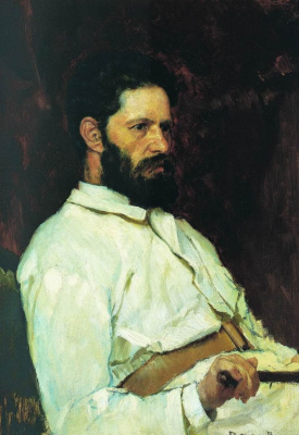 Victor Mikhailovich Vasnetsov. Portrait of the sculptor M. M. Antokolsky