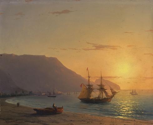 Ivan Aivazovsky. Sunset. Crimea