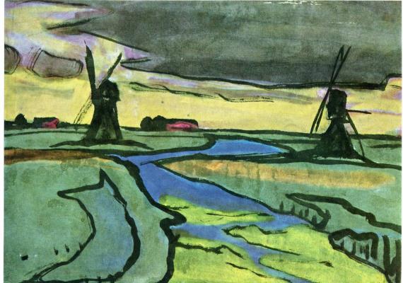 Emil Nolde. Two mills