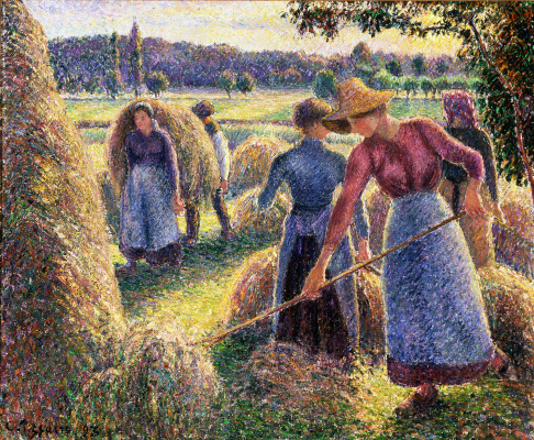 Stacking hay. Eragny, the evening