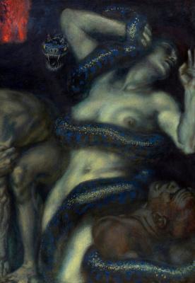 Франц фон Штук. Инферно. 1908   Деталь