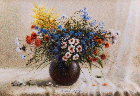 Boris Tkhanovich Tsoi. Morning bouquet