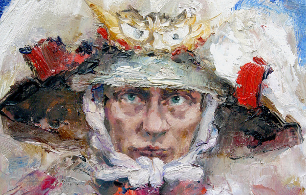 Tuman Art Gallery Tumana Zhumabayeva. Russian samurai (V.Putin)