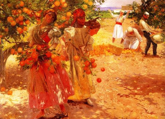 Хосе Филлол. Оранжевый сад