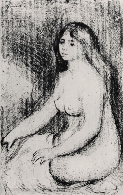 Pierre-Auguste Renoir. Seated bather