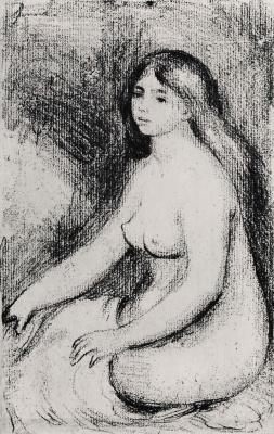 Pierre-Auguste Renoir. Seated bather