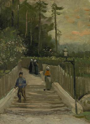 Vincent van Gogh. The way to Montmartre