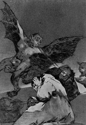 "Francisco Goya. The informers (Series ""Caprichos"", page 48)"