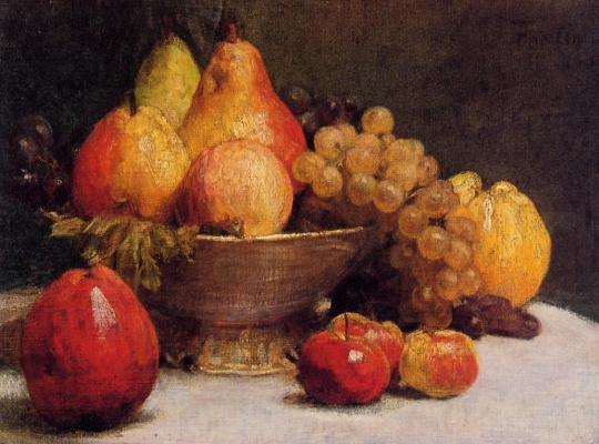 Henri Fantin-Latour. A bowl of fruit