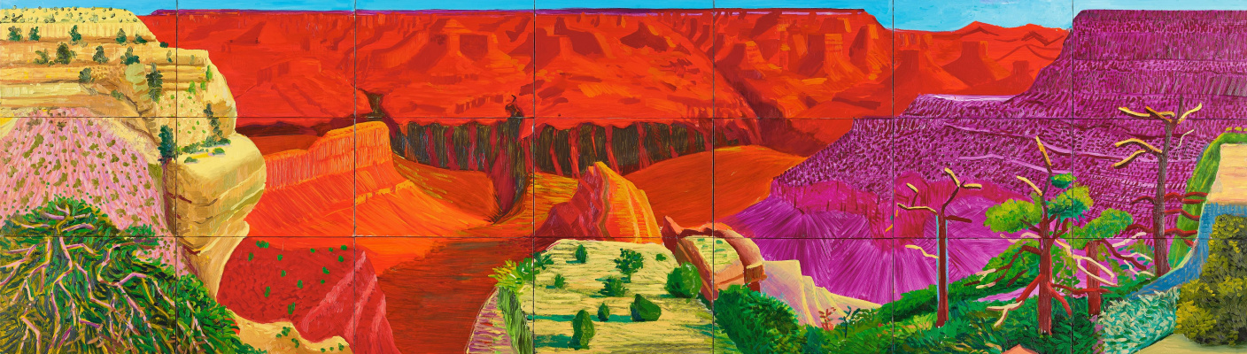 David Hockney. The Grand Canyon