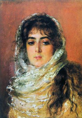 Константин Егорович Маковский. Портрет жены художника Ю.П. Маковской