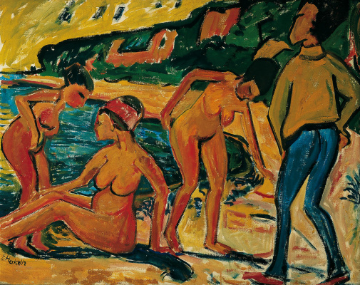 Erich Heckel. The scene at the sea