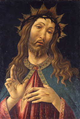 Sandro Botticelli. Christ in crown of thorns