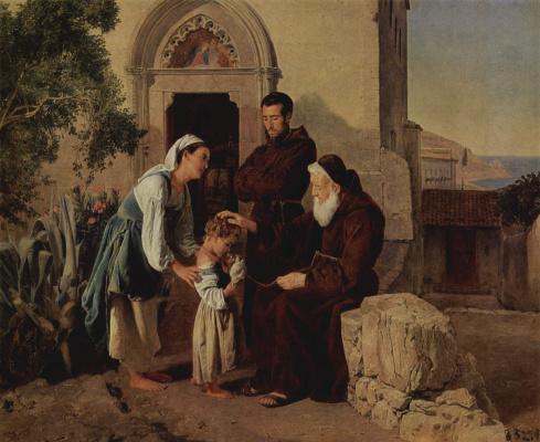 Фердинанд Георг Вальдмюллер. У монастырских ворот