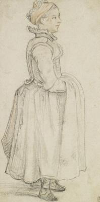 Hendrik Avercamp. Girl standing