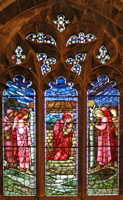 Уильям Моррис. Ранние годы Христа. Рождество. Витражное окно северной галереи Всех Святых