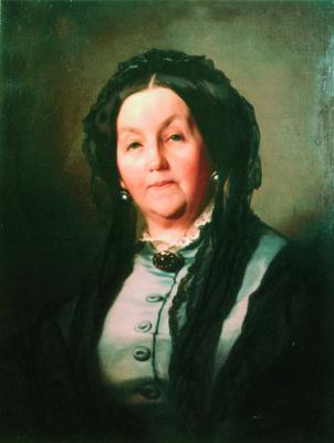 Ivan Kuzmich Makarov. Portrait of an old woman in a gray dress. 1871