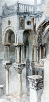 John Ruskin. The south side of the Cathedral of St. Mark, Venice