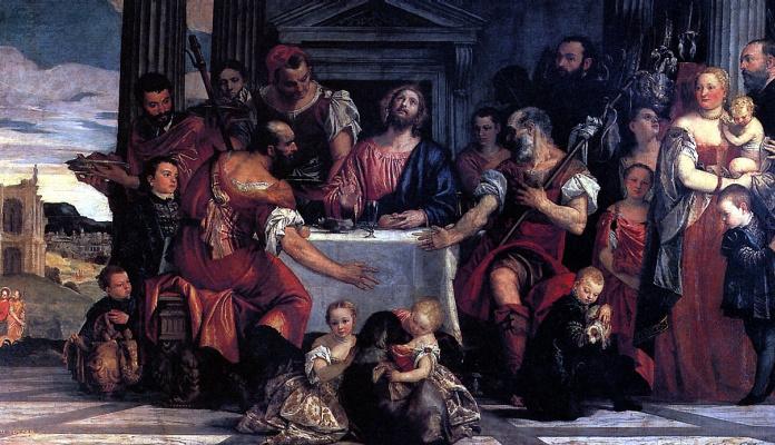 Кальяри Паоло. Христос в Эммаусе
