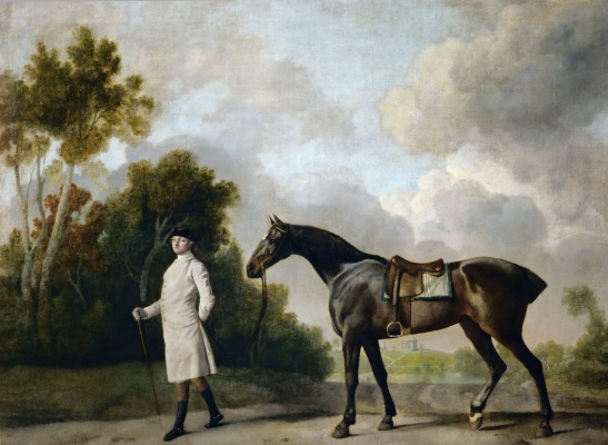 George Stubbs. Ashton, first Viscount Curzon, with his horse Maria