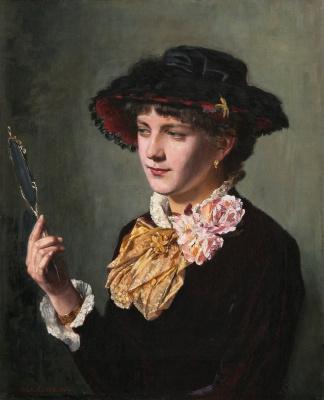 Альберт Густав Аристид Эдельфельт. Женщина с зеркалом. 1882
