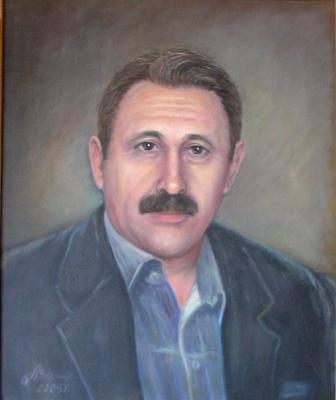 """Alexander Fedorovich Vazhnev. """"PORTRAIT OF V. A. KUPTSOV"""""""