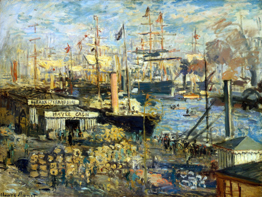 Claude Monet. A large promenade at Le Havre
