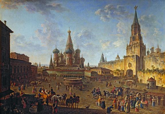 Федор Яковлевич Алексеев. Красная площадь в Москве