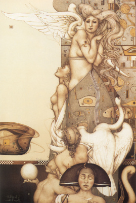 Michael Parkes. The angel stops time