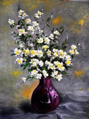 Marina Vladimirovna Patrikeeva. Blooming jasmine in a jug