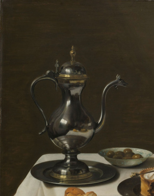Peter Class. Still life with a pie with a turkey. Fragment 2