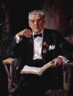 Alexander Mikhailovich Gerasimov. The portrait of the national artist of the USSR Ivan Mikhailovich Moskvin. 1940
