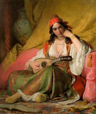 Фридрих фон Амерлинг. Регина в греческом костюме. 1842