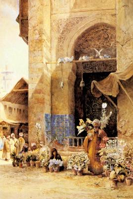 Чарльз Робертсон. Цветочный рынок
