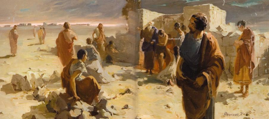 Nikolay Feshin. The exit from the catacombs