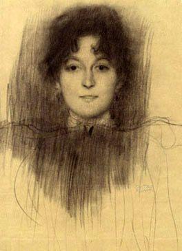 Gustav Klimt. Portrait of a smiling girl