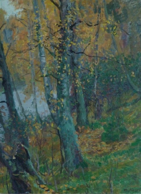 Yuri Petrovich Cugac. Autumn. On the shore
