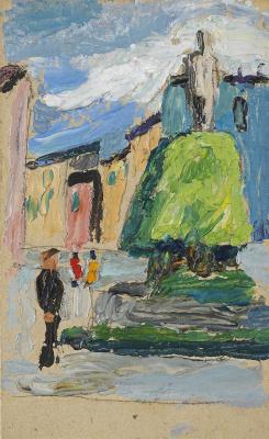 Gabriele Münter. Children in the Market Square