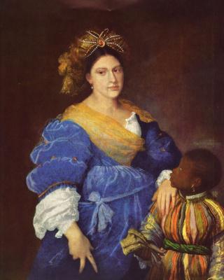 Titian Vecelli. Portrait Of Laura Dianti