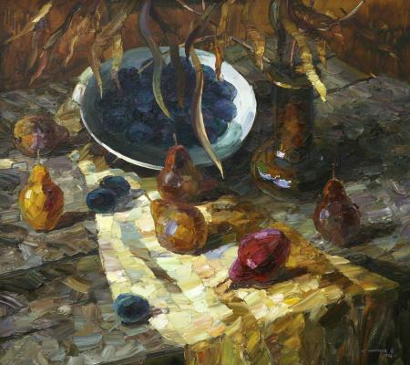 Евгений Владимирович Смирнов. Натюрморт с красной грушей.1996