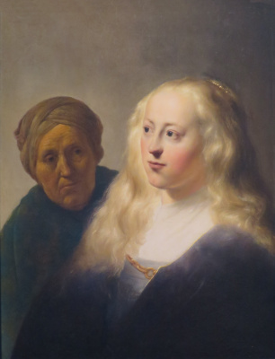 Jan Livens. Portrait of a young lady and the old maid (Allegory of youth and old age)