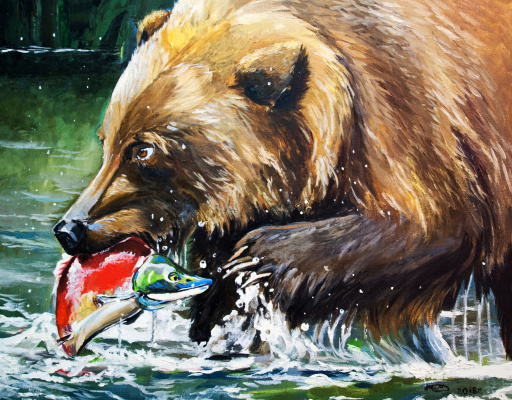 Love Semenkova. Brown bear hunting