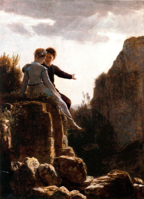 Arnold Böcklin. The conversation