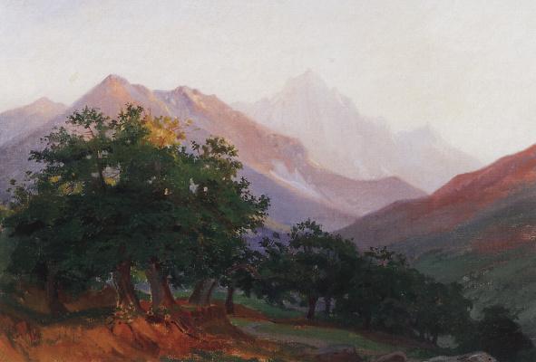 Nikolai Nikolaevich Ge. Oaks in the mountains of Carrara