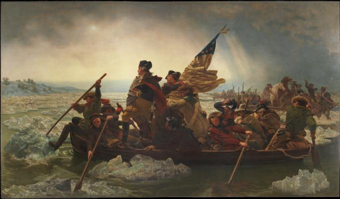Emanuel Gottlieb Loicze. Washington Crossing the Delaware