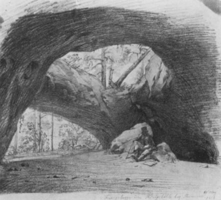 Леопольд Купельвизер. Королевская пещера близ Бадена