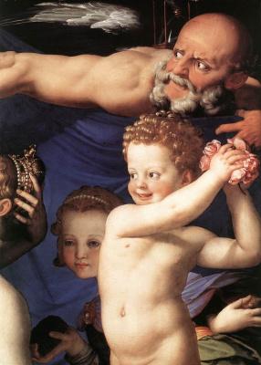 Agnolo Bronzino. Allegory of Venus. Fragment
