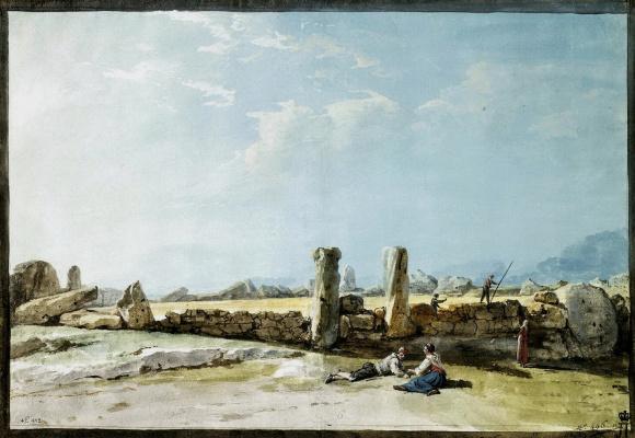 Жан-Пьер-Лоран Уэль. Ограда из гигантских камней в Казал Качча