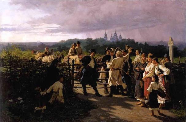 Konstantin Aleksandrovich Trutovsky. Wedding ransom