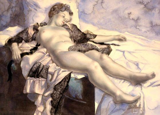 Лев Смарагдович Чистовский. Спящая обнаженная.
